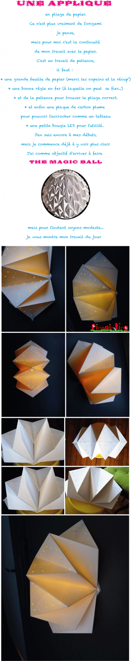 aplique,papier,pliage,origami,bougie led
