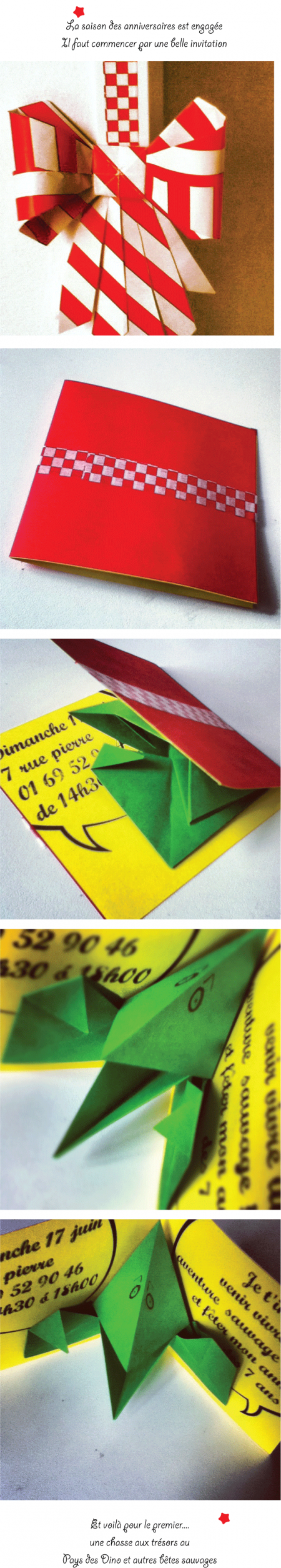 carte, invitation, anniversaire, origami, pinpointing